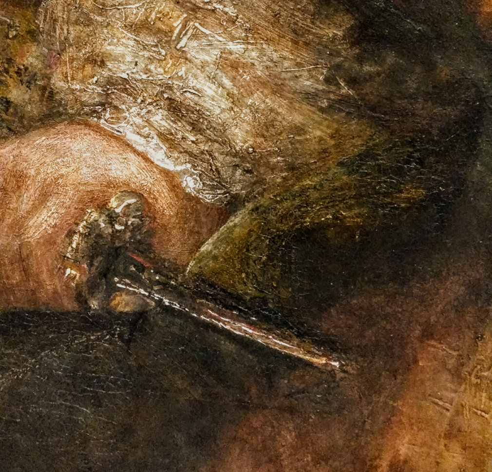 Lucretia, detail of knife