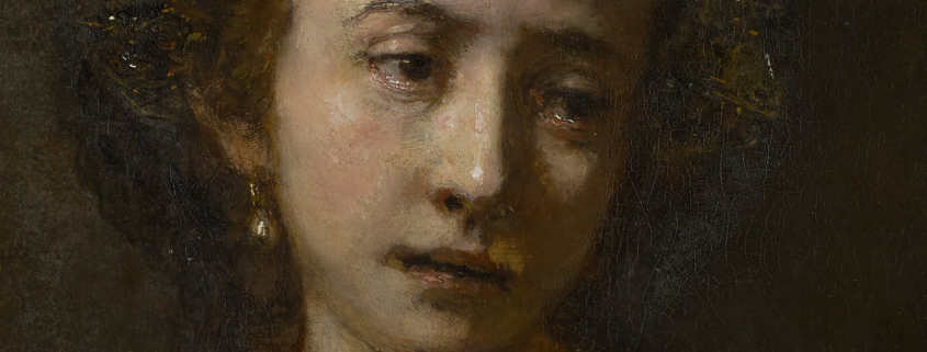 Lucretia, detail of head and shoulders